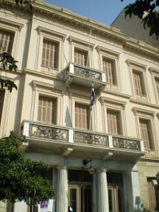 """Το κτίριο του Φιλολογικού  Συνδέσμου """"Παρνασσός"""" στη Πλατεία Καρύτση"""